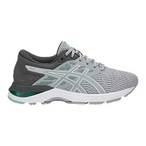 ef4c73e0c0951 ASICS Women s GEL Flux 5 Mid Running Shoes - Grey White Green