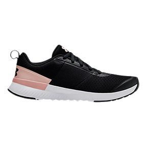 84039f372c1 Under Armour Women s Aura Training Shoes - Black White Pink