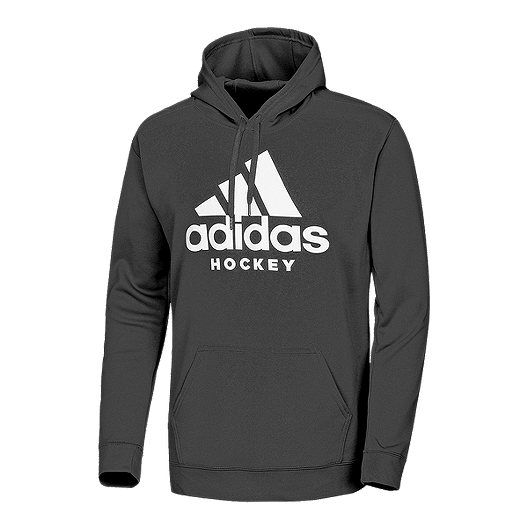 shop best sellers lace up in fashion style adidas Men's Hockey Pullover Hoodie - Black