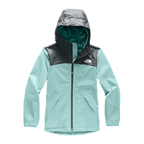 The North Face Girls' Warm Storm Rain Jacket - Light Blue
