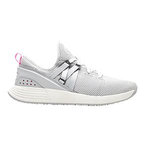 e60a8d62667 Under Armour Women s Breathe Training Shoes - Grey White