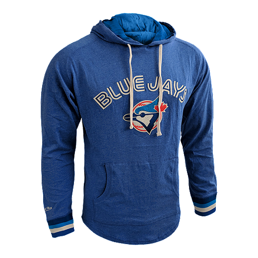 5556bd08 Toronto Blue Jays Men's Mitchell and Ness Cooperstown Lightweight Hoodie -  BLUE