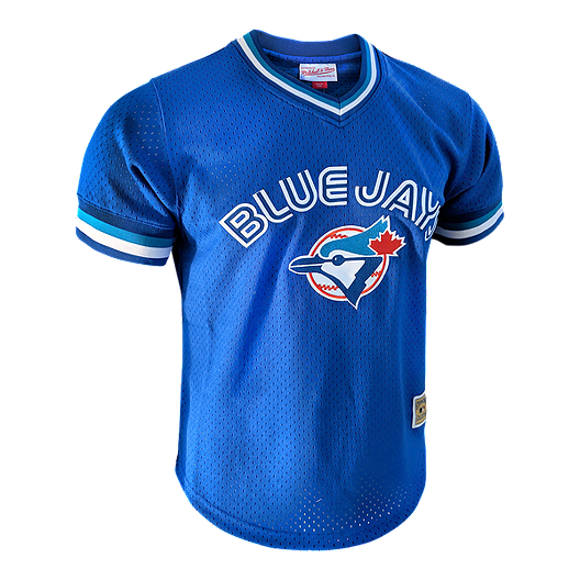 pretty nice 1e03c 4427d Toronto Blue Jays Mitchell and Ness Men's Cooperstown Mesh V Neck Top