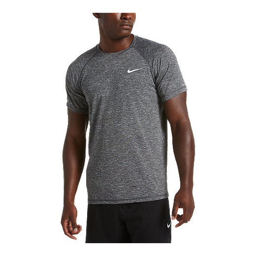de04c692 Nike Men's Heather Short Sleeve Hydroguard - Black | Sport Chek
