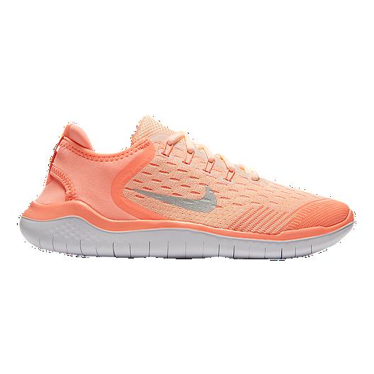 b58fbdd65b771 Nike Girls  Free Run 2018 Grade School Running Shoes - Crimson ...