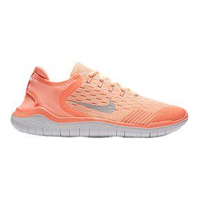 e749942f78 Nike Girls' Free Run 2018 Grade School Running Shoes - Crimson