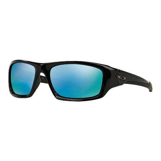 830fa7e7da0 Oakley Valve Polished Black Sunglasses - Deep Blue Polarized