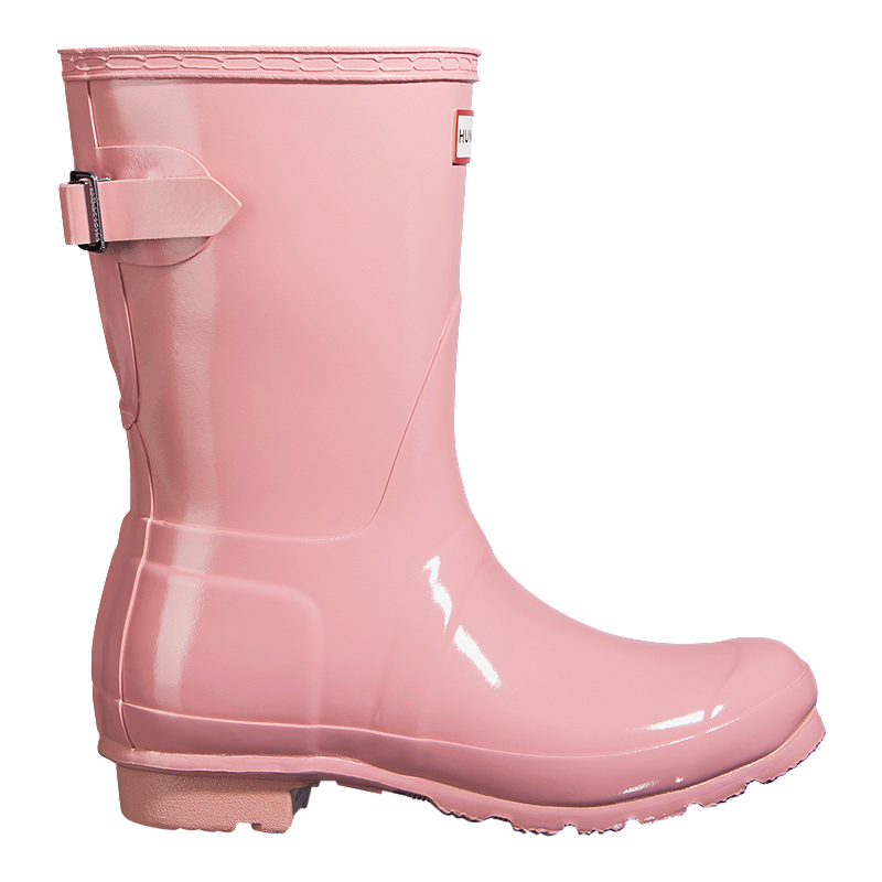 d6c744087eb Hunter Women's Original Short Back Adjustable Rain Boots - Candy Floss