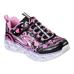 e9a07b94c0eed Skechers Girls' Heart Lights Pre-School Shoes - Black/Pink/Multi