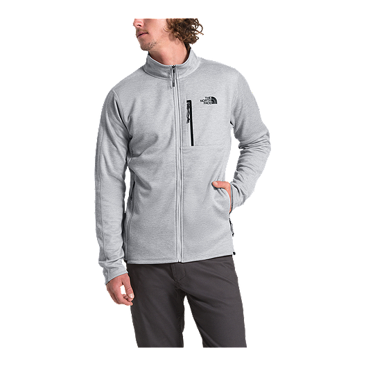 69fc244af The North Face Men's Canyonlands Full Zip Fleece - Light Grey Heather