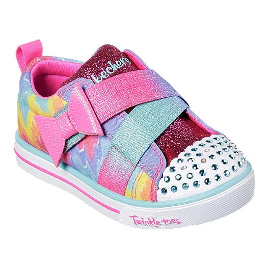 how to purchase suitable for men/women entire collection Skechers Girl Toddler Twinkle Toes Shoes - Rainbow Purple/Multi
