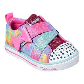 5d73cd9c4f29 Skechers Girl Toddler Twinkle Toes Shoes - Rainbow Purple/Multi