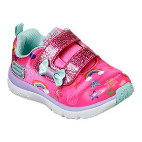 aa4b7aa409498 Skechers Girl Toddler Jump Lites Shoes - Pink/Multi