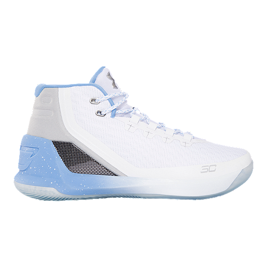 c77d3d12b097 Under Armour Men s Curry 3 Basketball Shoes - White Blue