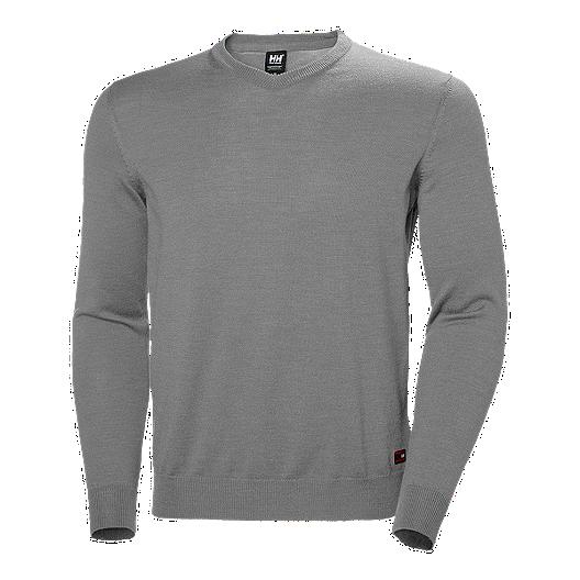 najlepiej sprzedający się gorąca wyprzedaż dobrze znany Helly Hansen Men's Skagen Merino Sweater - Grey Melange