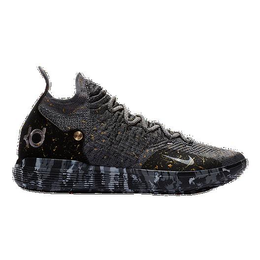 promo code 9f6f9 cad69 Nike Men s Zoom KD 11 Basketball Shoes - Black Grey Gold   Sport Chek