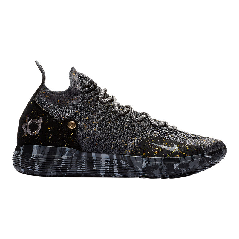 promo code fff44 d69b3 Nike Men s Zoom KD 11 Basketball Shoes - Black Grey Gold   Sport Chek