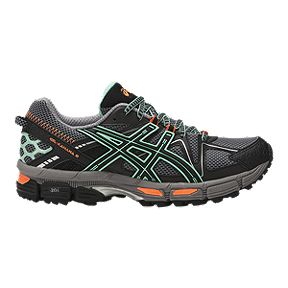 484144750 ASICS Women s GEL Kahana 8 Running Shoes - Black Green Orange