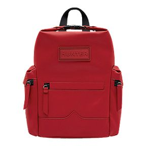 9ca60ad8dc Hunter Original Mini Rubberised Leather Backpack - Military Red