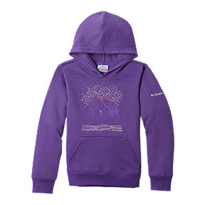 Columbia Girls' Hart Mountain Hoodie - Purple