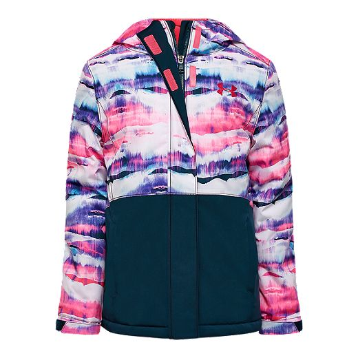 El propietario espejo de puerta musical  Under Armour Girls' Treetop Print Winter Jacket - Teal | Sport Chek