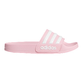 adidas Girls' Adilette Shower Slide Sandals - Pink