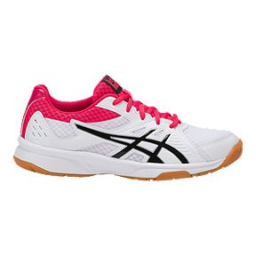 pretty nice 53d0f 98f7b ASICS Women s Upcourt 3 Indoor Court Shoes - White Pink