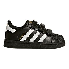 23aedce94b43b adidas Boy Toddler Superstar 3V Shoes - Black White
