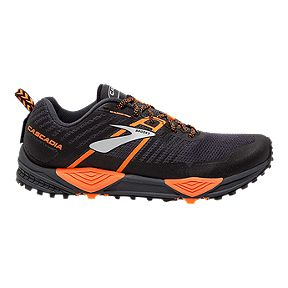 the latest 1008f 037e9 Brooks Men s Cascadia 13 2E Trail Running Shoes - Grey Black Orange