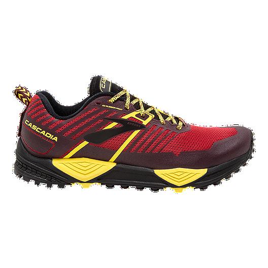 Brooks Men/'s Cascadia 13 Trail Running Shoe Red//Yellow//Black
