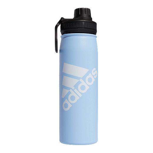 Adidas 20 Oz Stainless Steel Water Bottle Glow Blue White Sport Chek