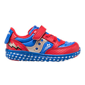 Saucony Boy Toddler Jazz Lite Shoes - Red/Blue