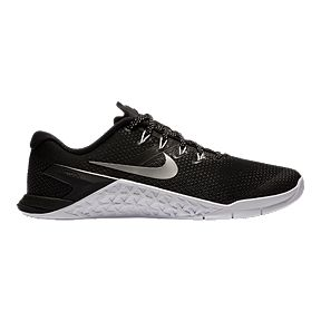 first rate a6c77 eab61 Nike Women s Metcon 4 Training Shoes - Black Silver White