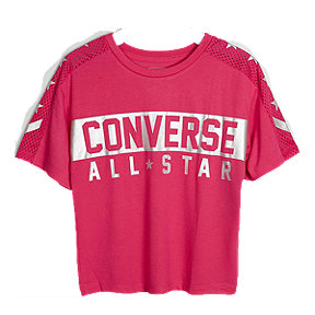 Converse Girls' Reflective Knit Short Sleeve Top