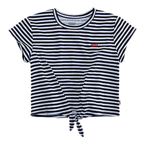 Levi's Girls' Cropped Tie Front Tee