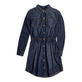 22b79e4be04507 Levi's Girls' Fit N Flare Denim Dress