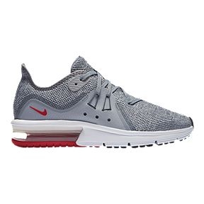 cf0131fb423 Nike Boys  Air Max Sequent 3 Grade School Shoes - Grey Red