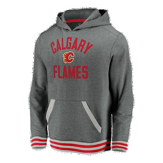 Calgary Flames Toddler Classic Stripe Pullover Fleece Hoodie