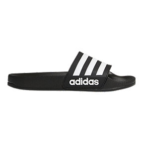 adidas Boys' Adilette Shower Slide Sandals - Black/White