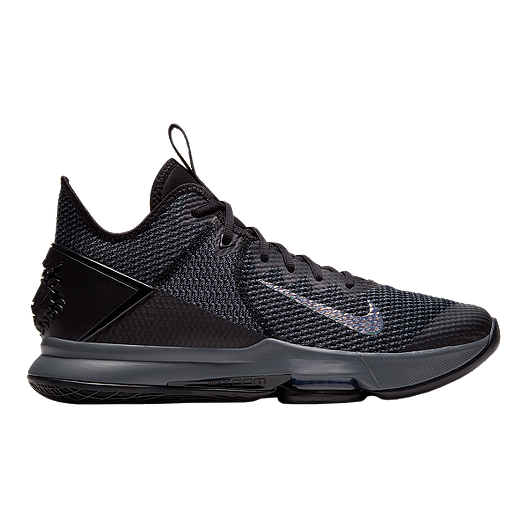 Inaccesible apagado Nublado  Nike Men's Zoom LeBron Witness IV Basketball Shoes - Black | Sport ...