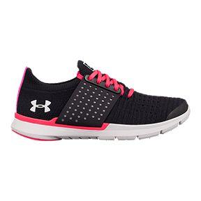 9793378f14 Under Armour Girls  Threadborne Slingwrap Grade School Shoes - Black Penta  Pink