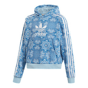 adidas Girls' Originals Culture Clash Cropped Pullover Hoodie