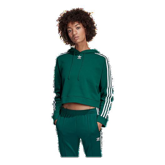 adidas Originals Womens adicolor 3 Stripes Crop Sweater Black