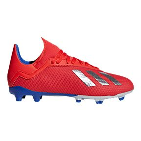 a82b1c4e5 adidas Boys  Grade School X 18.3 Firm Ground Shoes - Red Silver Blue
