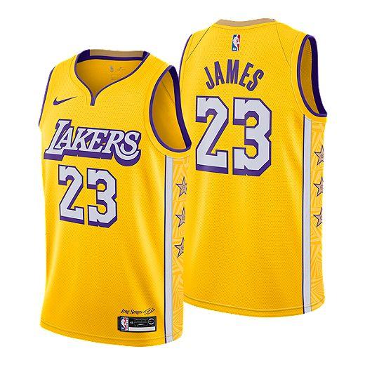 Los Angeles Lakers Nike Men's Lebron James City Edition Swingman ...