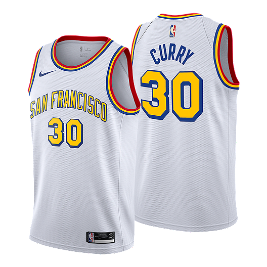 best service 4092f 4ab06 Golden State Warriors Nike Hardwood Classics Curry Swingman ...