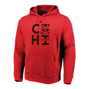 Chicago Blackhawks Majestic Men's We Play To Win Hoodie