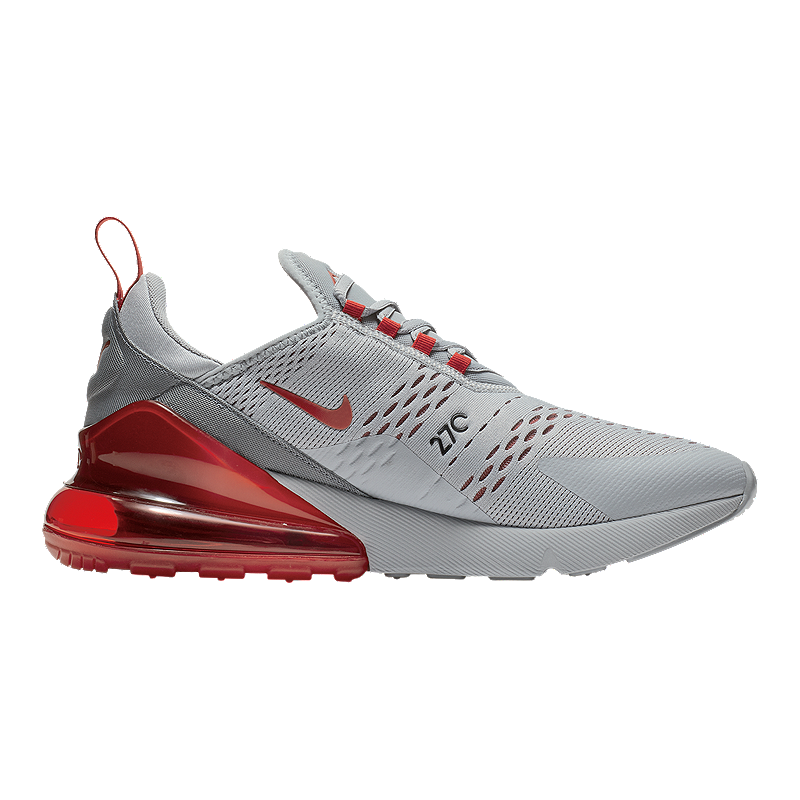 finest selection 89ea5 f8153 Nike Men's Air Max 270 Shoes - Wolf Grey/University Red
