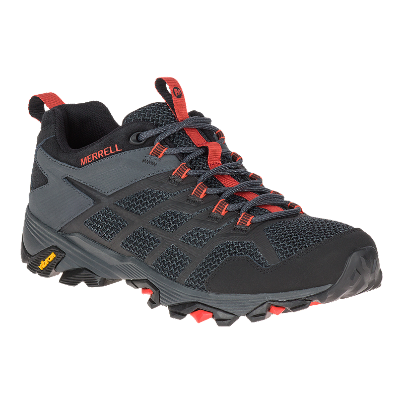 8ba0a2fdad018 Merrell Men's Moab FST 2 Hiking Shoes - Black/Granite