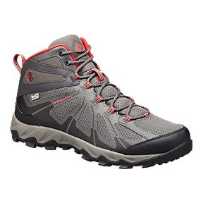 b3ccc8342ef7e Columbia Men's Peakfreak XCRSN II Mid OutDry Hiking Boots - City Grey/Bright  Red